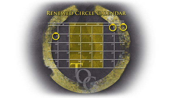 Plush and Blood Renew the Circle Calender